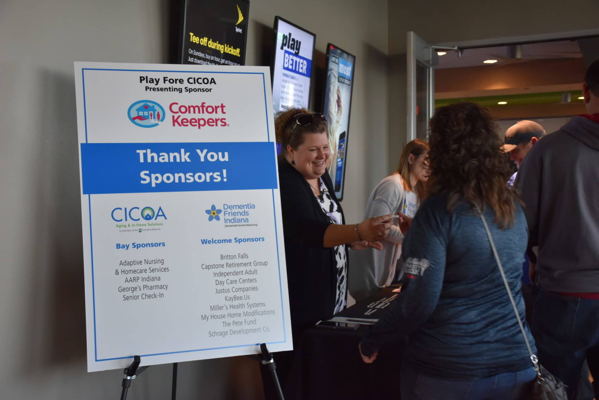 Sponsorship Recognition at Event