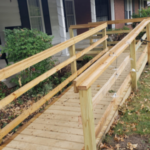 wheelchair ramp at client home
