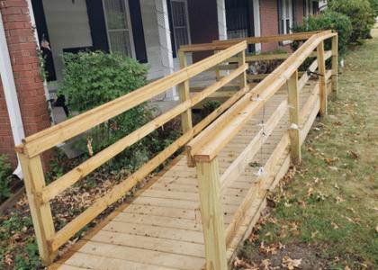 wheelchair ramp at client home
