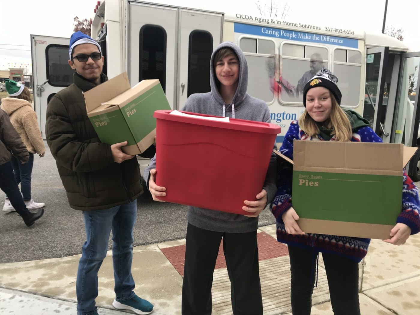 High school students deliver holiday baskets to seniors in Indianapolis