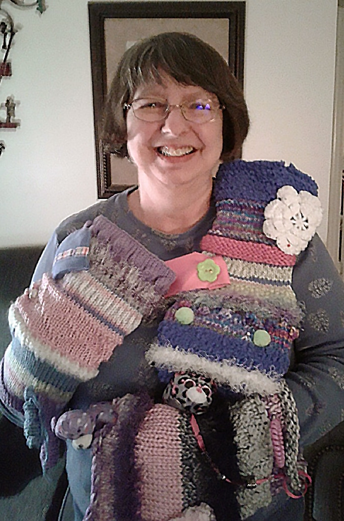 Rita Montgomery Creates Twiddle Muffs for Alzheimer's Support Group