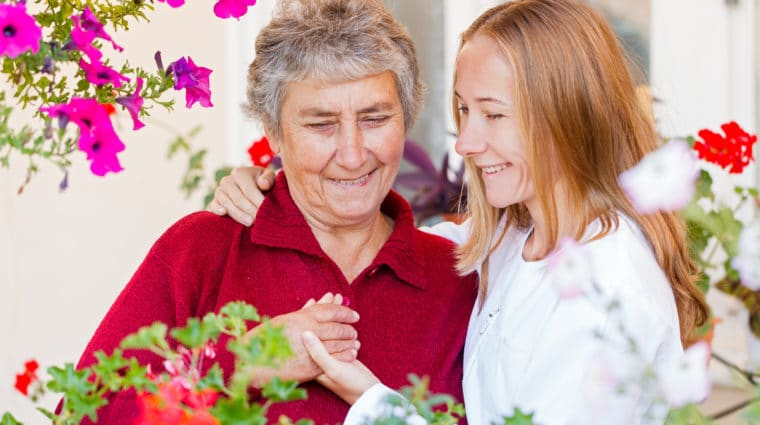 Caregiver Redirecting Someone with Dementia