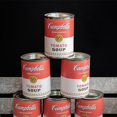 Use soup cans for home exercise weights