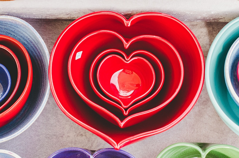 Heart Bowls of Different Sizes