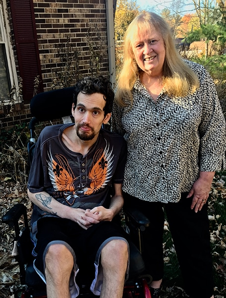 Care manager Judy and son Matt