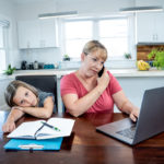Working from Home with Kids in Virtual Learning during COVID