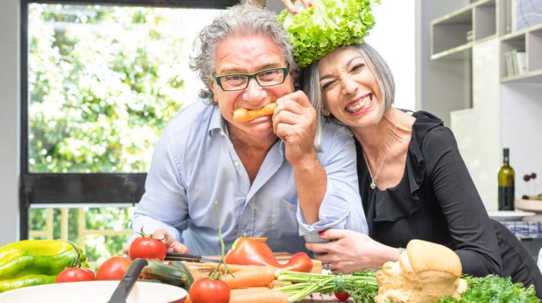 Seniors Eating a Healthy Diet