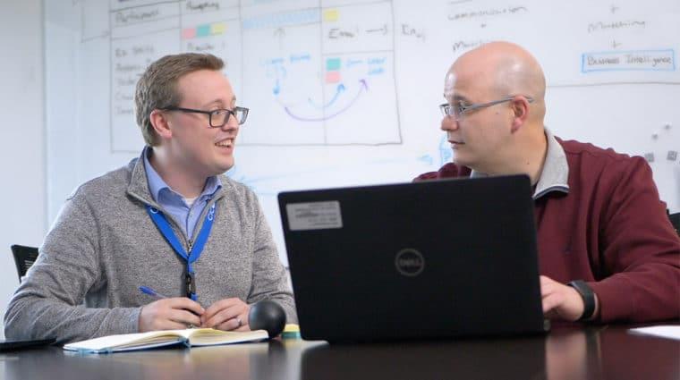 Jonathan Haag and Chad Bales CICOA employees