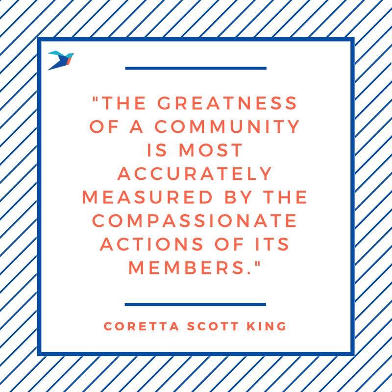 Coretta Scott King Quote about Community