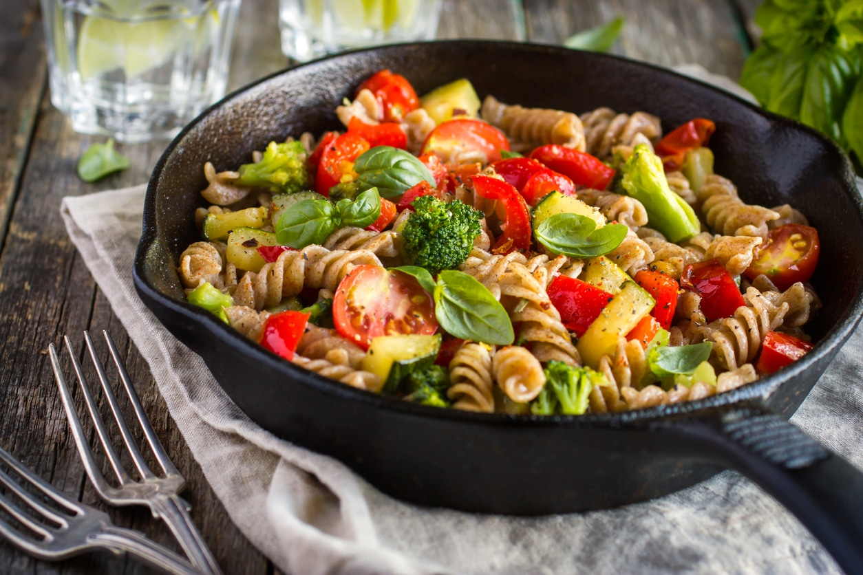 Whole Wheat Fusilli Pasta With Vegetables