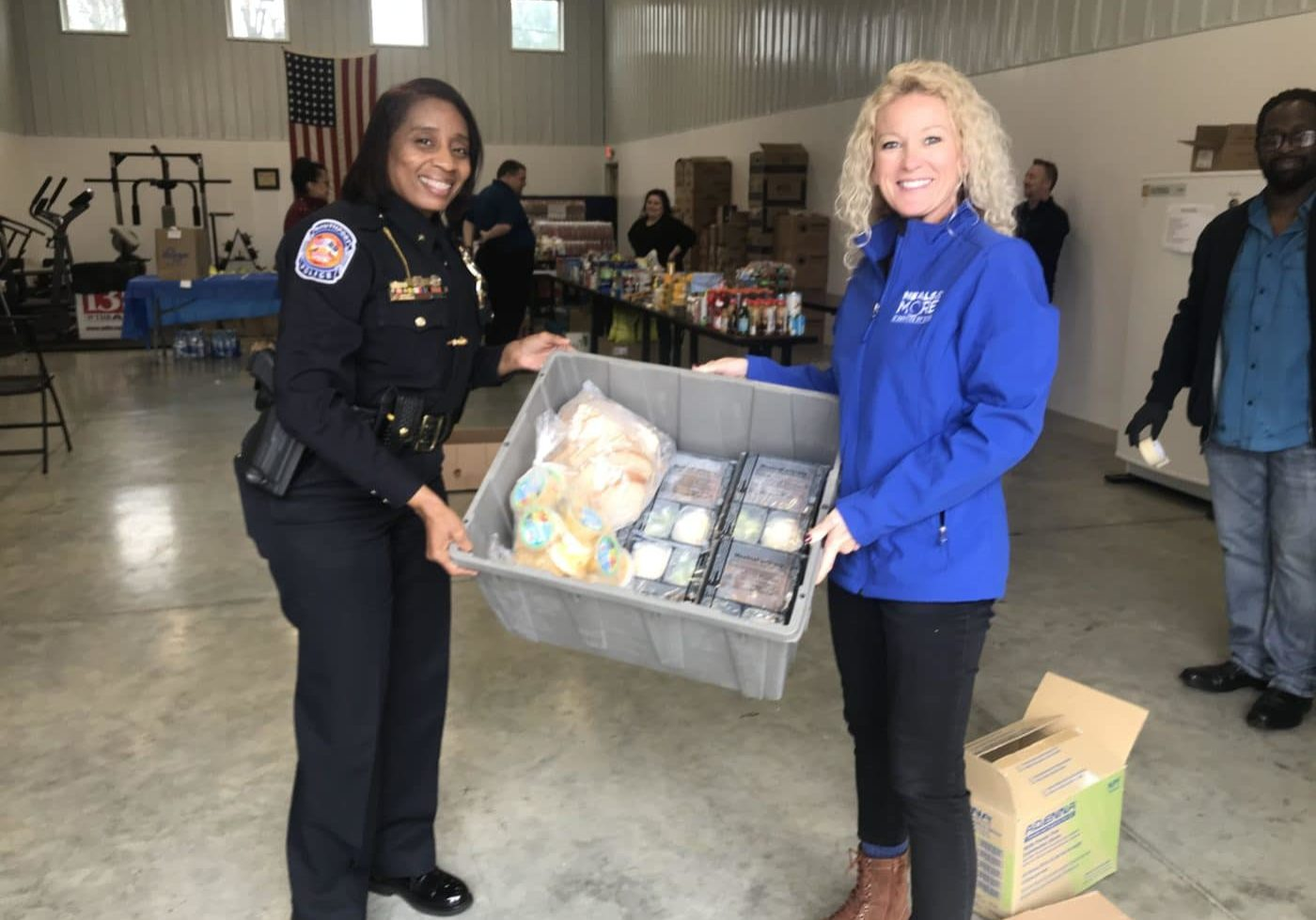 Delivering meals to seniors with Southport Police Department
